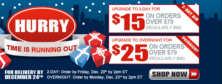 2-Day: For delivery by December 24th, order by Friday, December 20th by 2PM ET