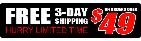 FREE 3-Day Express Shipping On orders over $49