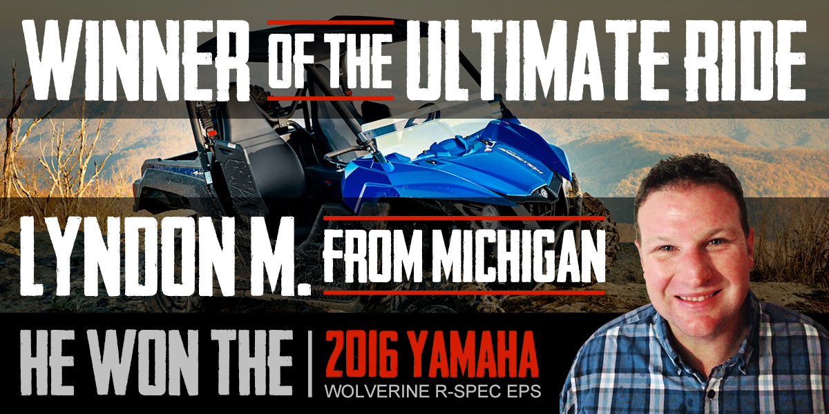 Ultimate Ride Winner - Lyndon M.