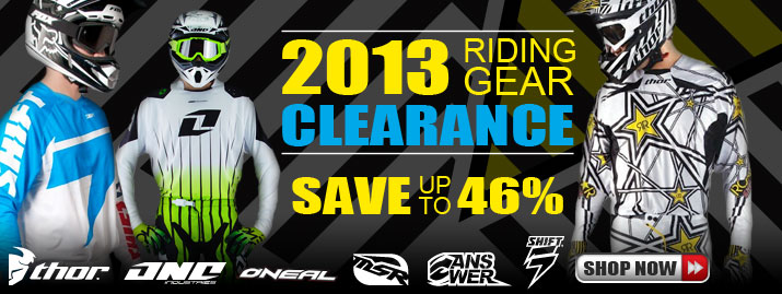 Shop All 2013 Riding Gear Clearance