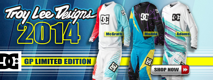 New 2014 Troy Lee Designs GP DC Limited Edition Gear
