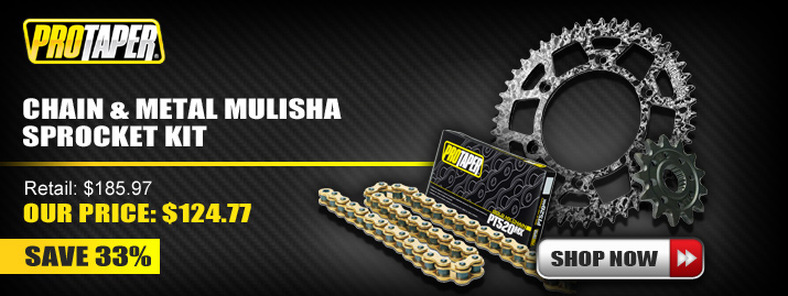 Shop Pro Taper Chain and Metal Mulisha Sprocket Kit
