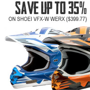 Shoei VFX-W Werx - Save 35%! ($399.77)
