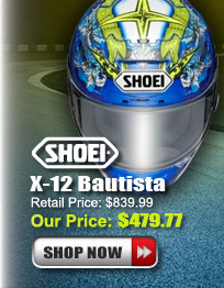Shop Shoei X-12 Bautista Helmet