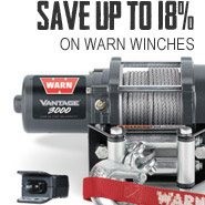 Warn Winches save up to 18%