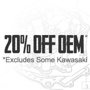 Save 20% (Excludes Some Kawasaki)