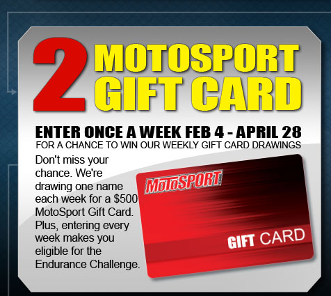 MotoSport Gift Card - Weekly Drawings