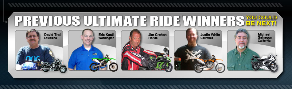 Previous Ultimate Ride Winners. You could be next!