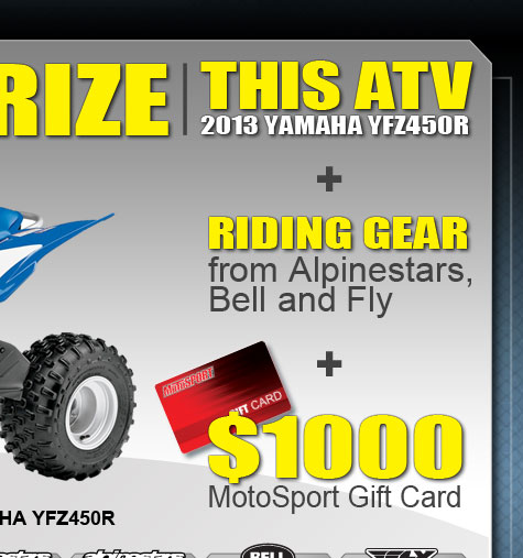 Plus Riding Gear and $1000 Motosport Gift Card
