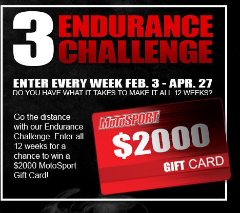 Endurance Challenge -Enter every week feb. 3 - apr. 27 do you have what it takes to make it all 12 weeks?