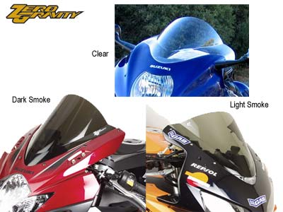 ZERO GRAVITY DOUBLE BUBBLE MOTORCYCLE WINDSCREEN