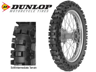 DUNLOP D756 MOTORCYCLE REAR TIRE - 100/100-18