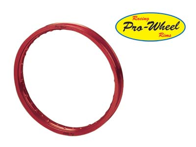 "PRO WHEEL REAR RIM - 16"" RED"