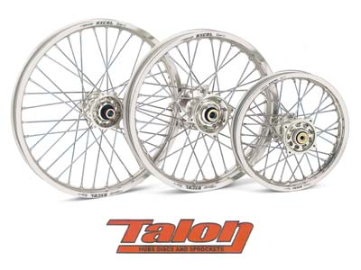 TALON REAR WHEEL - SILVER/SILVER